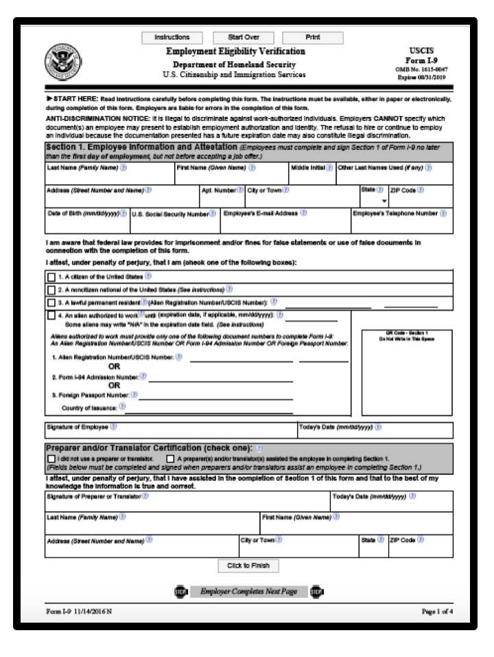 New Form I-9 Now Available for Employers