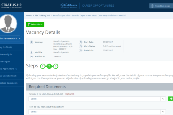 Applicant Tracking Steps