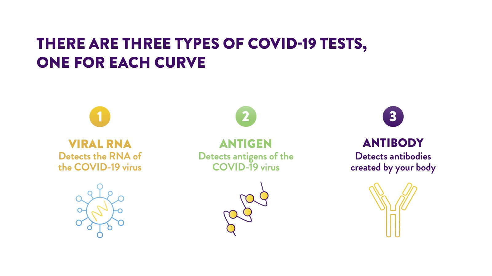 COVID-19 3 types of tests